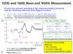 u 5s and u 6s mass and width measurement