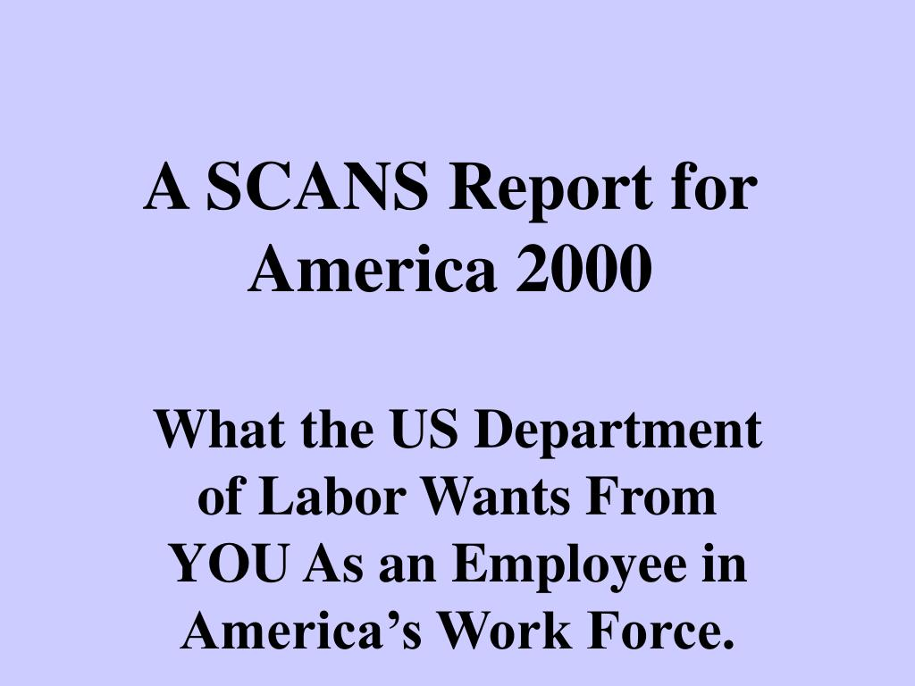 a scans report for america 2000 l.