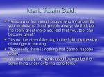 mark twain said
