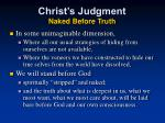 christ s judgment naked before truth