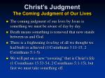 christ s judgment the coming judgment of our lives