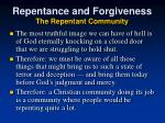 repentance and forgiveness the repentant community
