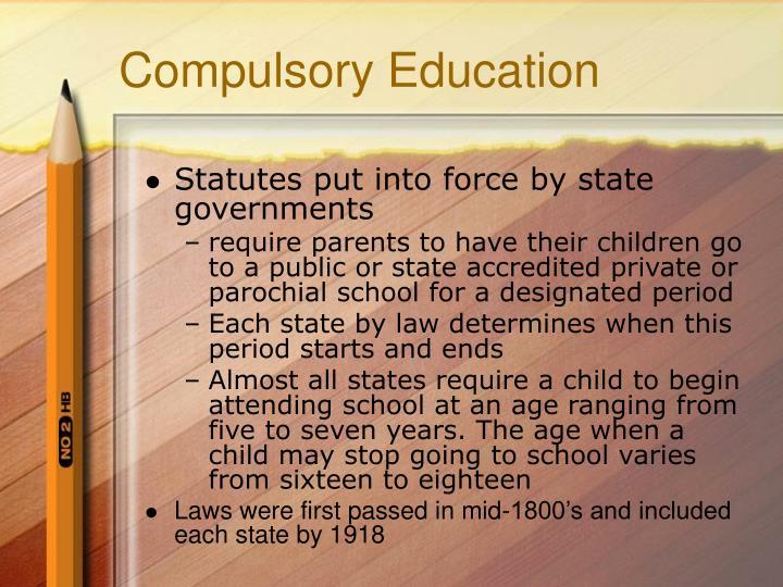Compulsory education