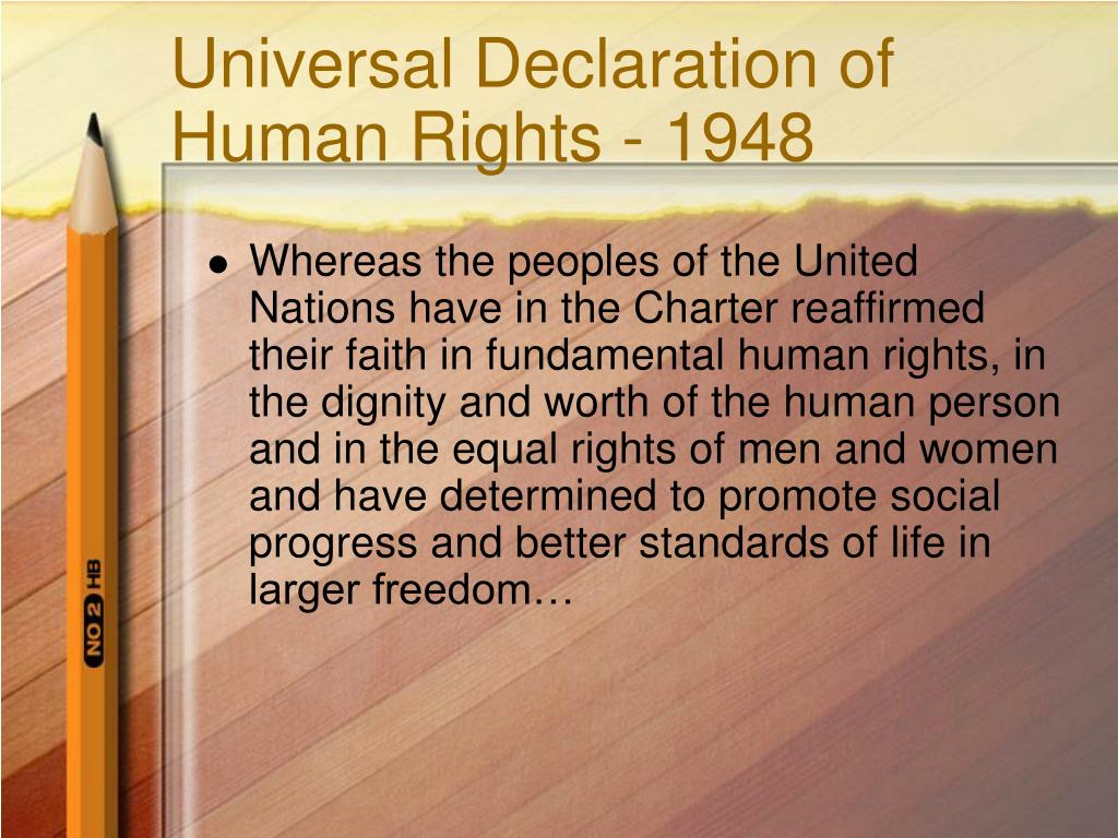 Universal Declaration of Human Rights - 1948