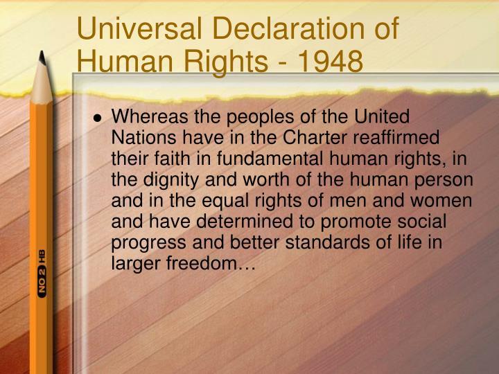 Universal declaration of human rights 1948
