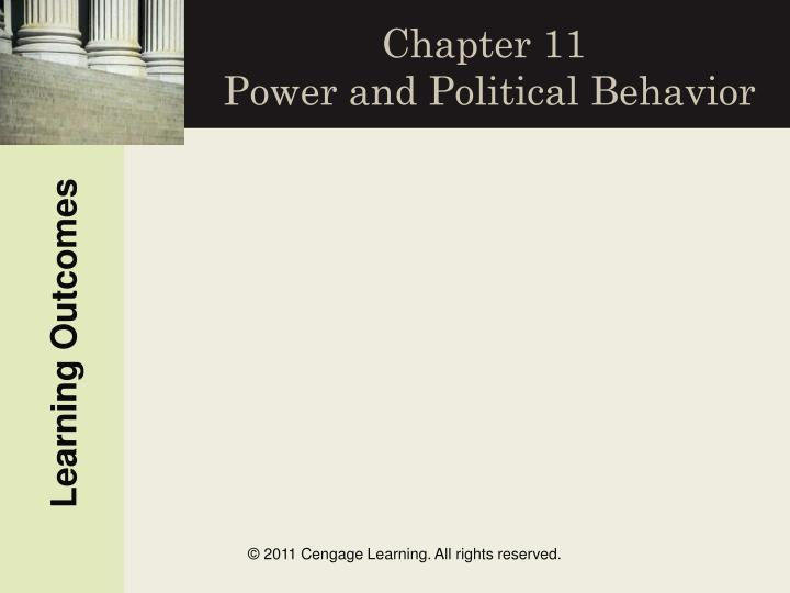 chapter 11 power and political behavior n.