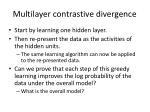 multilayer contrastive divergence