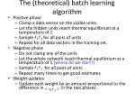 the theoretical batch learning algorithm