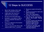12 steps to success