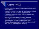 coping wsu