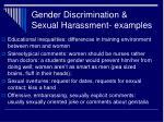 gender discrimination sexual harassment examples