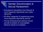 gender discrimination sexual harassment27