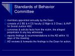 standards of behavior committee