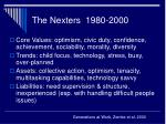 the nexters 1980 2000