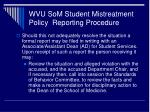 wvu som student mistreatment policy reporting procedure11