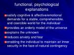 functional psychological explanations