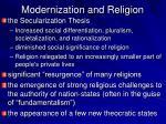 modernization and religion