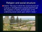 religion and social structure
