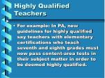 highly qualified teachers13