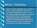 nclb flexibility