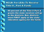nclb for leas to receive title ii part a funds