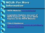 nclb for more information