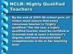 nclb highly qualified teachers