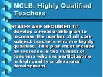 nclb highly qualified teachers14