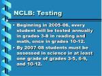 nclb testing