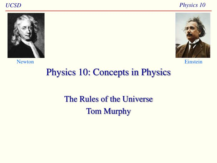 physics 10 concepts in physics n.