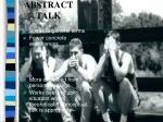 abstract talk