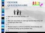 gender questionnaire