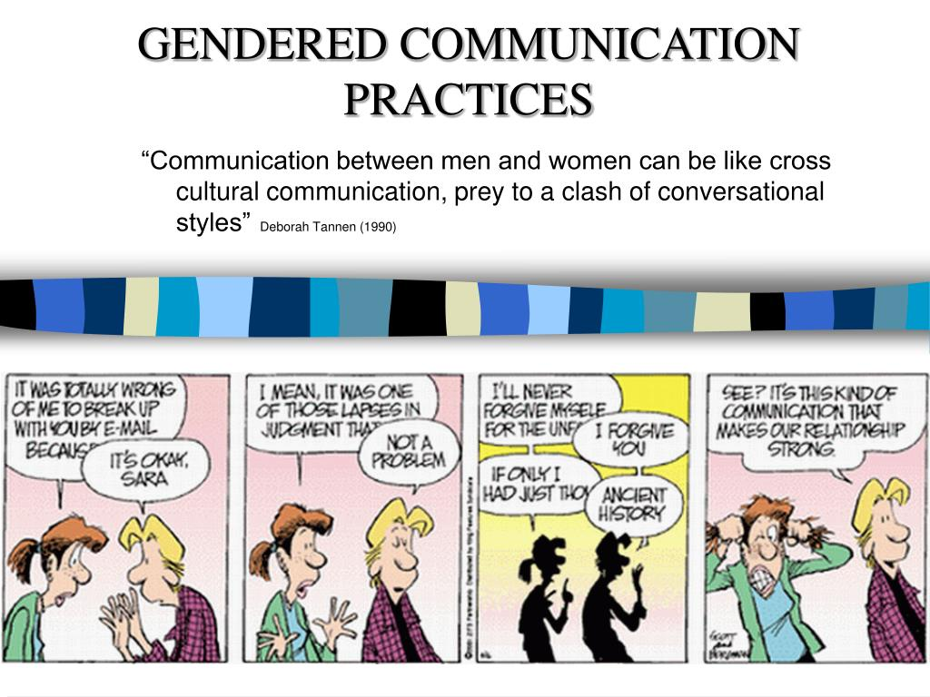 essays about communication between men and women The first thing i found was that both men and women identified the same sets of strengths and weaknesses in themselves and each other top three communication strengths for females: 1.