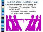 talking about troubles cont