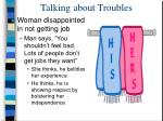 talking about troubles