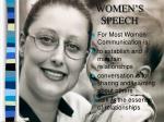 women s speech