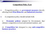 competition policy law