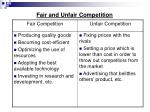 fair and unfair competition