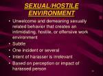 sexual hostile environment