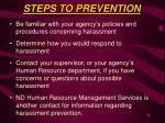 steps to prevention21