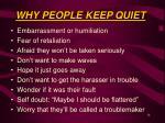 why people keep quiet