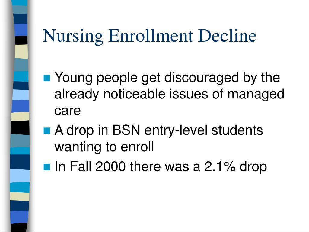 Nursing Enrollment Decline