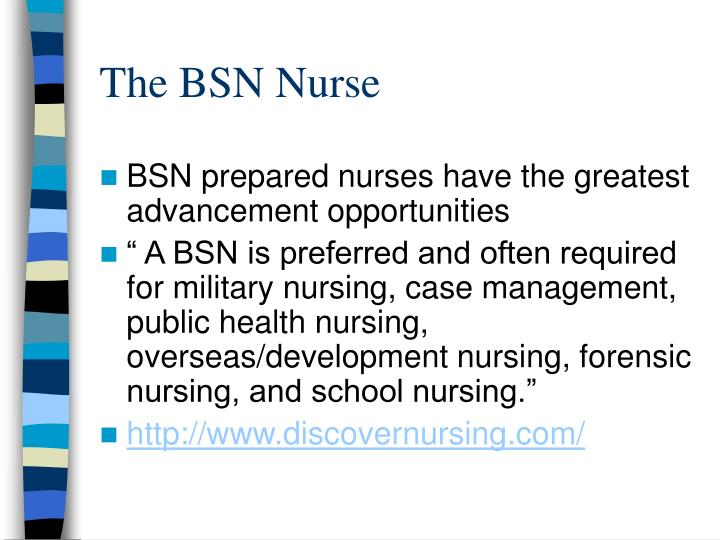 qualities of a nurse with a bsn as a mentor essay Recognizing and defining clinical nurse leaders abstract this article addresses the issue of clinical leadership and how it is defined the concepts and definitions of clinical leadership are.