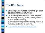 the bsn nurse