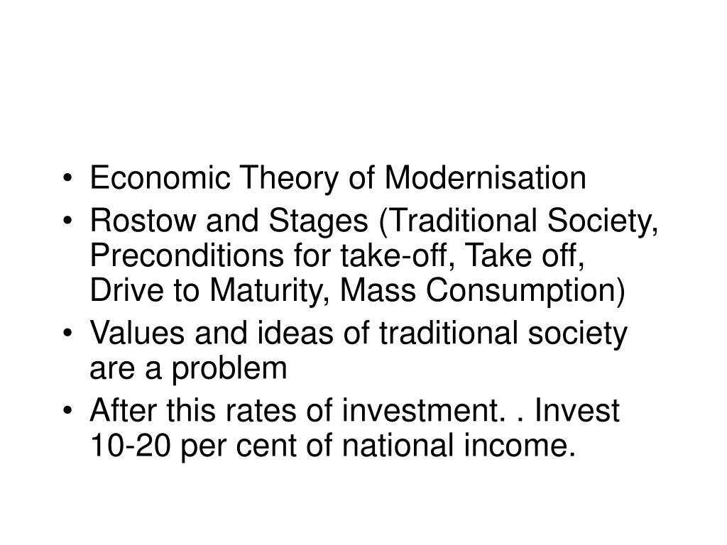 modernization theory and dependency theory