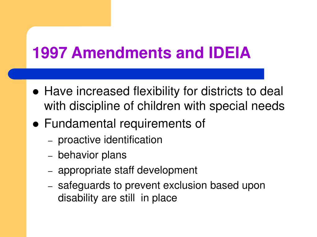 1997 Amendments and IDEIA