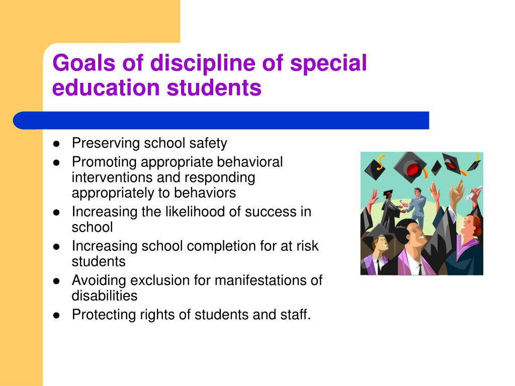 Goals of discipline of special education students