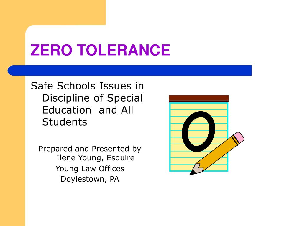 zero tolerance l.