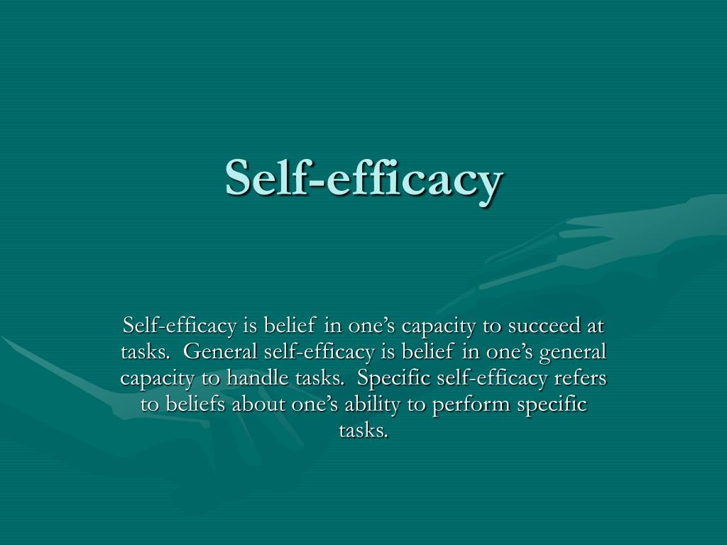 self efficacy l.