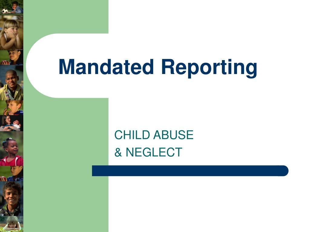 mandated reporting l.